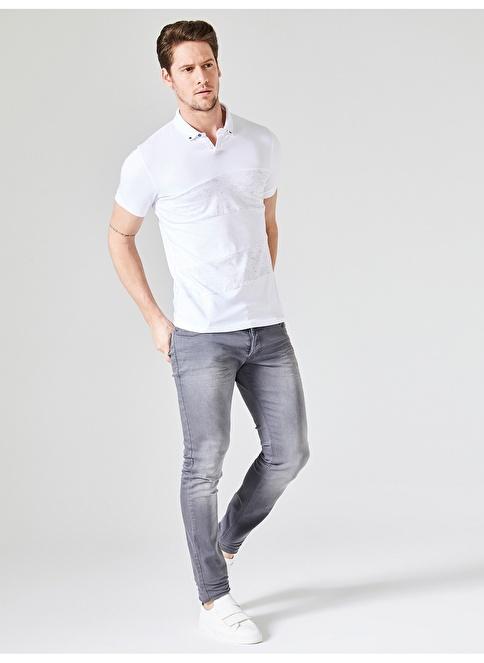 Xint Polo Yaka Tişört Beyaz